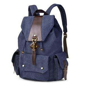 "Mens ""Franklin"" Vintage Casual Canvas Backpack"